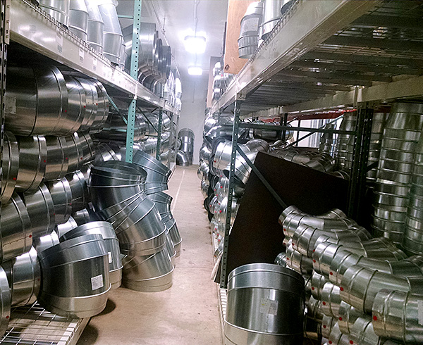 Spiral and Oval Duct and Fittings in Warehouse