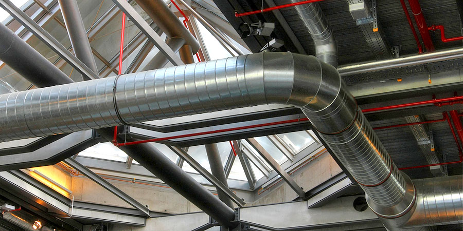 Spiral Ducts in Modern Office